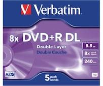 DVD+R DL 8,5GB 240min 8x Matt Silver 5er Jewelcase