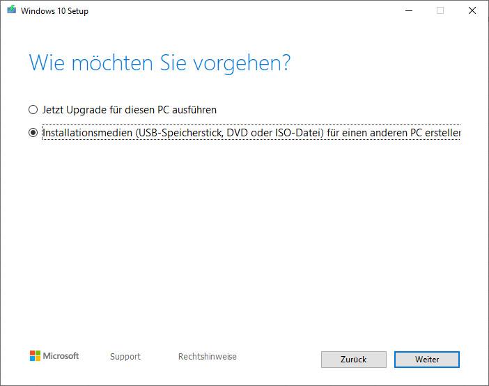 Screenshot 1 - Windows 10 Setup-Tool