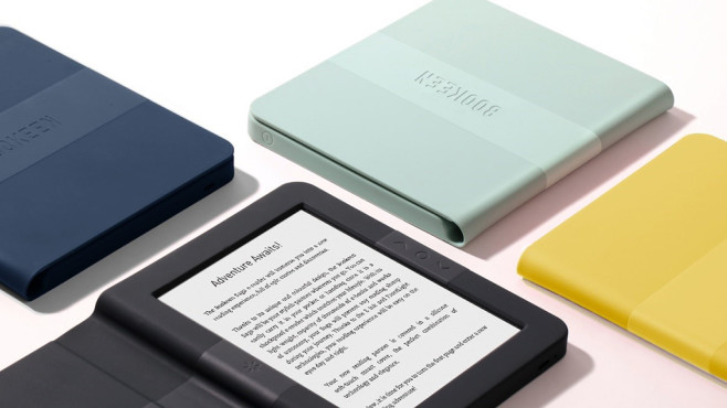 Bookeen SAGA: Neuer eBook-Reader aus Frankreich Mit dem seinem neuen eBook-Reader greift Bookeen die großen Konkurrenten Kindle und Tolino an.©Bookeen