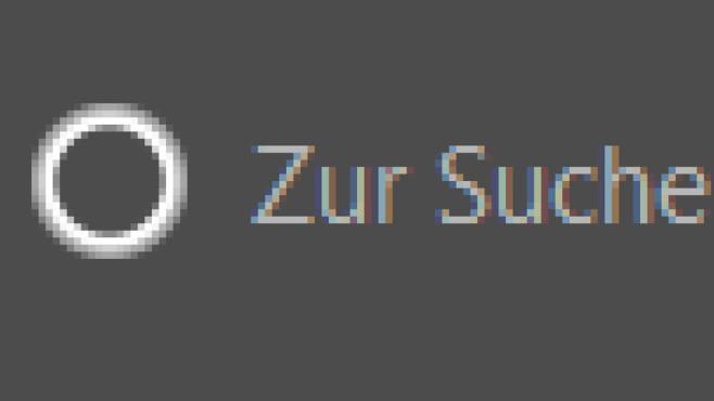 Windows 10: Bildschirmlupe mit viel weniger Qualitätsverlust Windows 10 1703 (alt): Das Cortana-Suchfeld bei 1600-Prozent-Zoom.©COMPUTER BILD