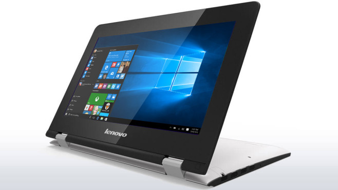 Platz 10:  Lenovo Yoga 300-11IBR (80M100TQ) ©Lenovo, MIcrosoft