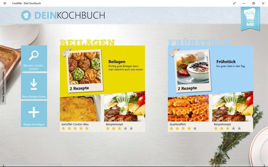 Screenshot 1 - CookMe - Dein Kochbuch (App für Windows 10 & 8)