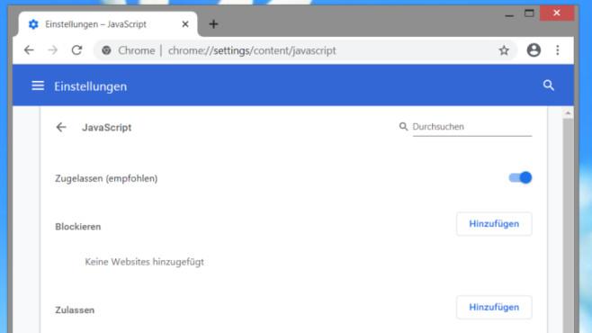 JavaScript deaktivieren: So geht es in Firefox, Chrome, Opera, Edge und IE©COMPUTER BILD