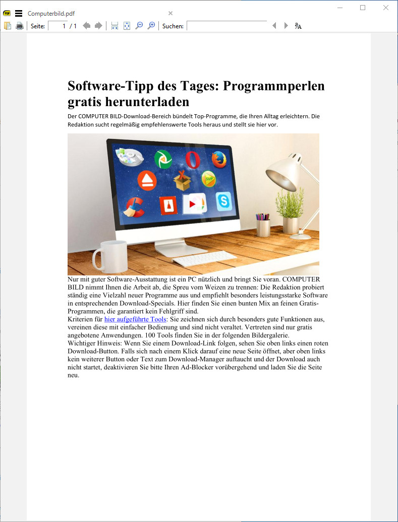Screenshot 1 - Sumatra PDF