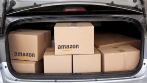 Amazon-Päckchen im Auto©Amazon, iStock.com/DonNichols
