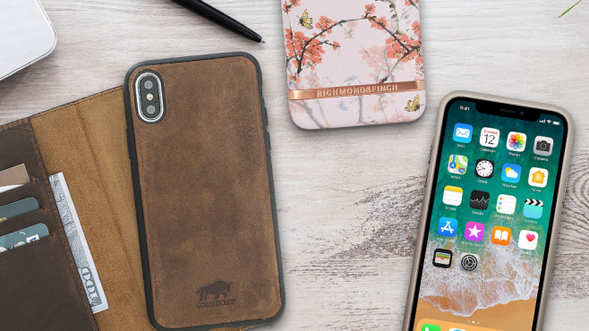 Apple iPhone X Cases Hüllen © istock.com/Nastco, Solo Pelle, Apple, Richmond & Finch