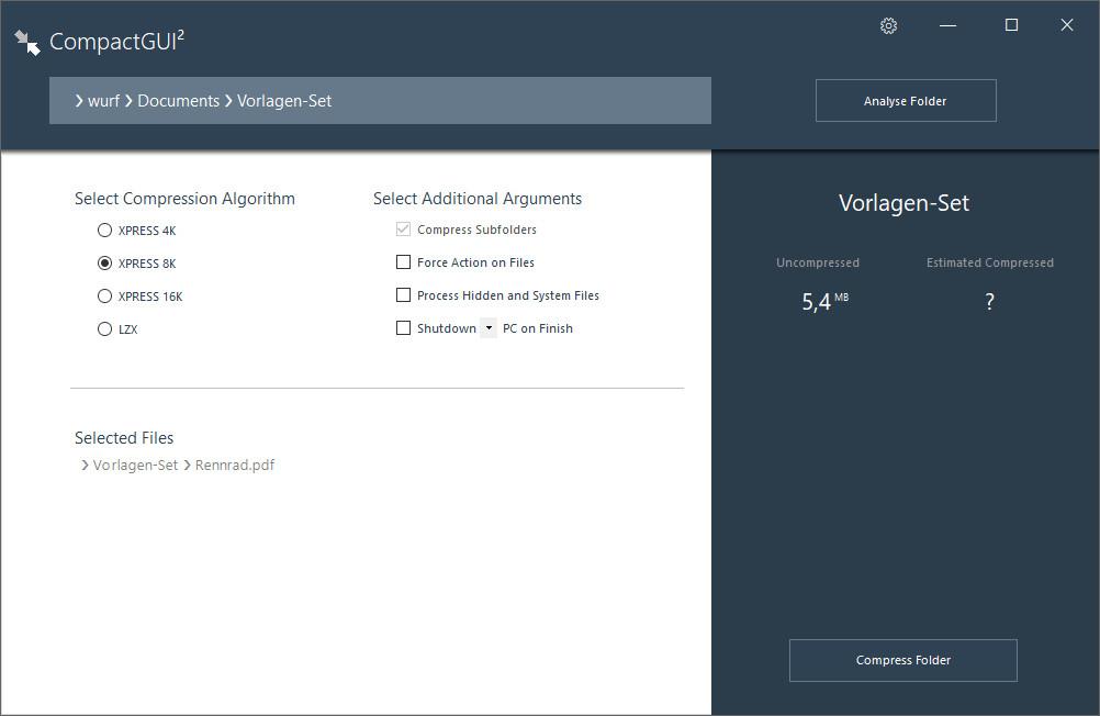Screenshot 1 - CompactGUI