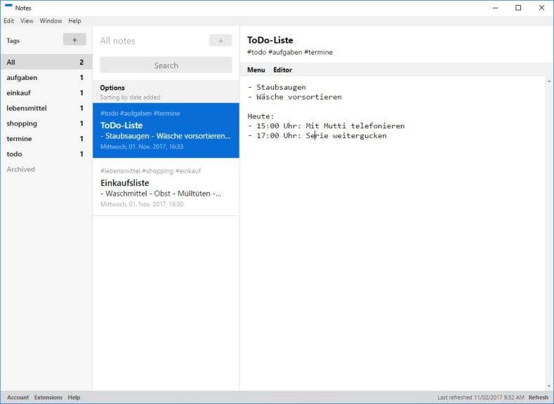 Screenshot 1 - Standard Notes
