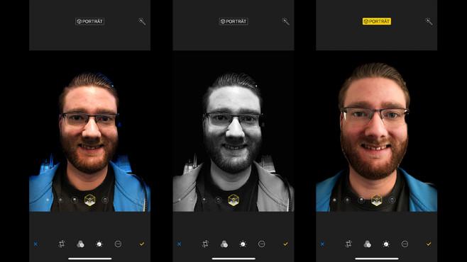 iPhone X: Porträtlicht©COMPUTER BILD