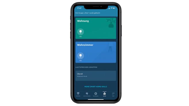 Alexa-Lautsprecher-Test: Multiroom-App©Apple, Amazon