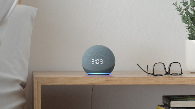 Alexa-Lautsprecher im Test: Amazon Echo Dot mit Uhr©Amazon