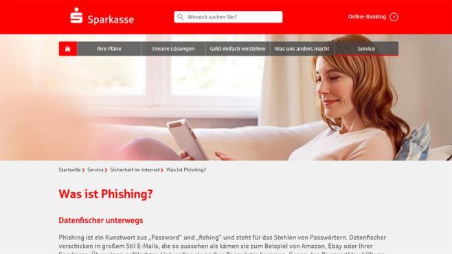 Sparkasse: Phishing©Sparkasse