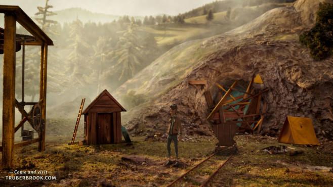 Trüberbrook angespielt: Tote Oma im Schwarzwald Trüberbrook: Die Stimmung des Schwarzwalds ist düster.©Headup Games, btf GmbH