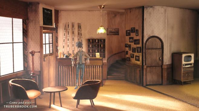 Trüberbrook angespielt: Tote Oma im Schwarzwald Trüberbrook: Ein klassisches Point-and-Click-Spiel mit berühmten Sprechern.©Headup Games, btf GmbH