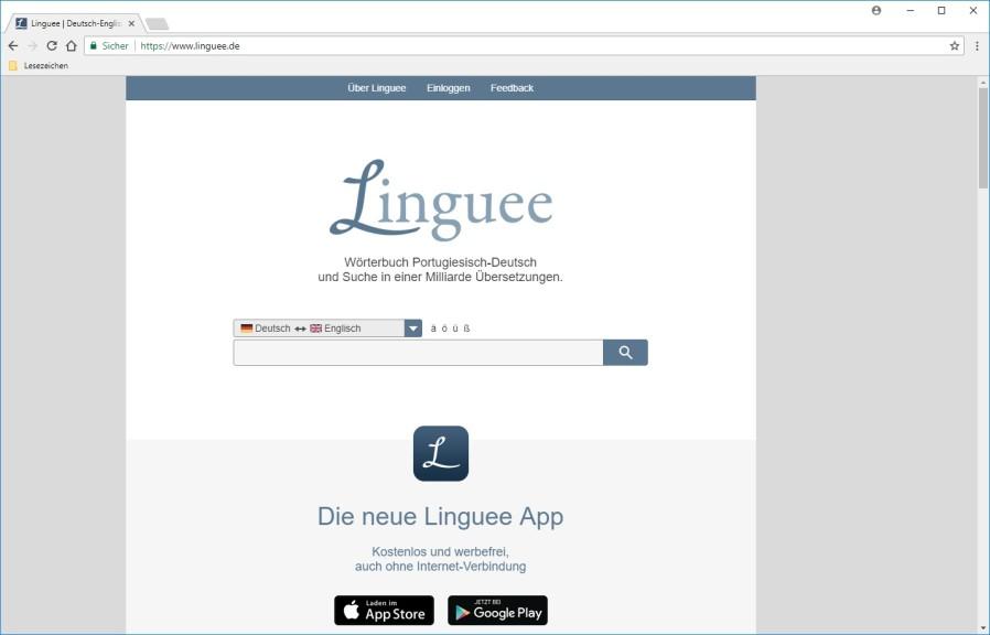 Screenshot 1 - Linguee-Wörterbuch