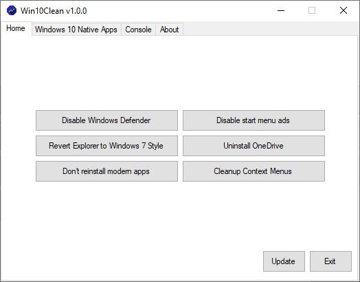 Screenshot 1 - Win10Clean