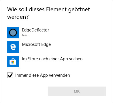 Screenshot 1 - EdgeDeflector