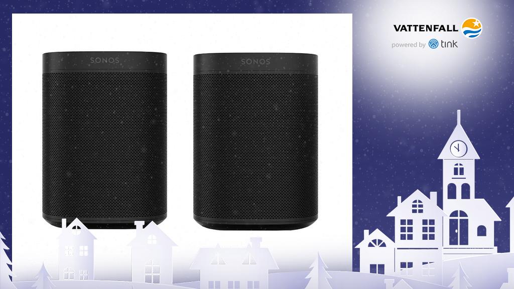 Gewinnen Sie ein Stereo-Set One WLAN-Lautsprecher von Sonos. ©Sonos, ©istock/thanaphiphat