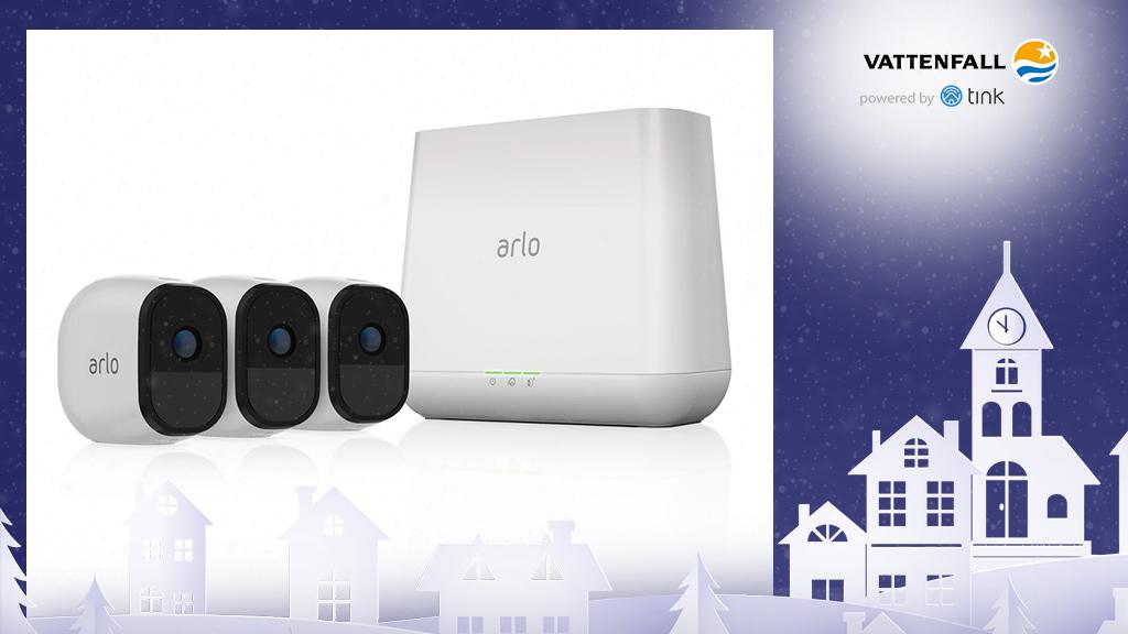 Gewinnen Sie ein Arlo Pro Set Sicherheitssystem mit 3 HD-Kameras von Netgear. ©Netgear, ©istock/thanaphiphat