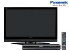 Fernseher und Festplattenrekorder von Panasonic