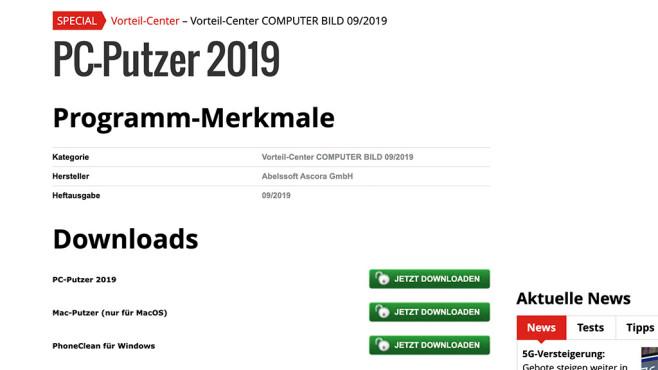 Download starten ©COMPUTER BILD