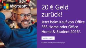 Microsoft Office Cashback-Aktion 20 Euro©Microsoft