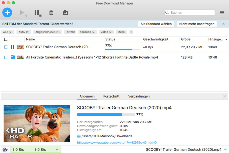 Screenshot 1 - Free Download Manager (Mac)