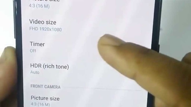 Samsung Galaxy A8+ Kamera©Far Star / YouTube