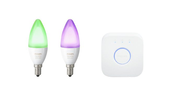 Philips Hue White and Color Ambiance Starter-Set + Bridge © Saturn