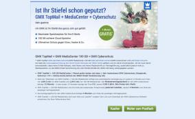 GMX & Web.de: Verbraucherschützer warnen vor Dreifach-Angebot Dieses Werbefenster sehen Kunden derzeit, wenn Sie sich in ihr Freemail-Konto einloggen wollen.©GMX