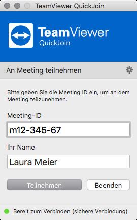 Screenshot 1 - TeamViewer QuickJoin (Mac)