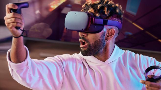 CES 2019: Ausblick auf die Technik-Messe der Superlative Die neue VR-Brille Oculus Quest kommt im Frühjahr 2019 auf den Markt.©Oculus