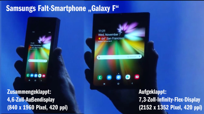 Samsung Galaxy F: Das erste richtige Falt-Smartphone ©COMPUTER BILD