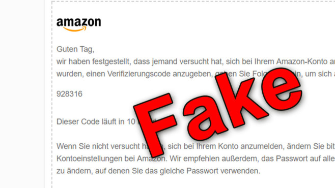 amazon phishing neue fake mail im umlauf computer bild. Black Bedroom Furniture Sets. Home Design Ideas