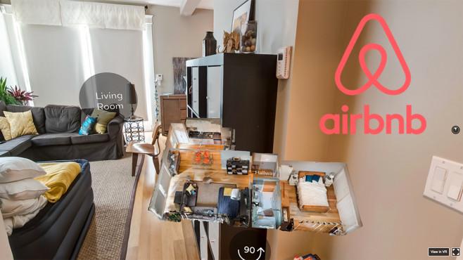 Airbnb-Funktion nutzt virtuelle Realität©Airbnb