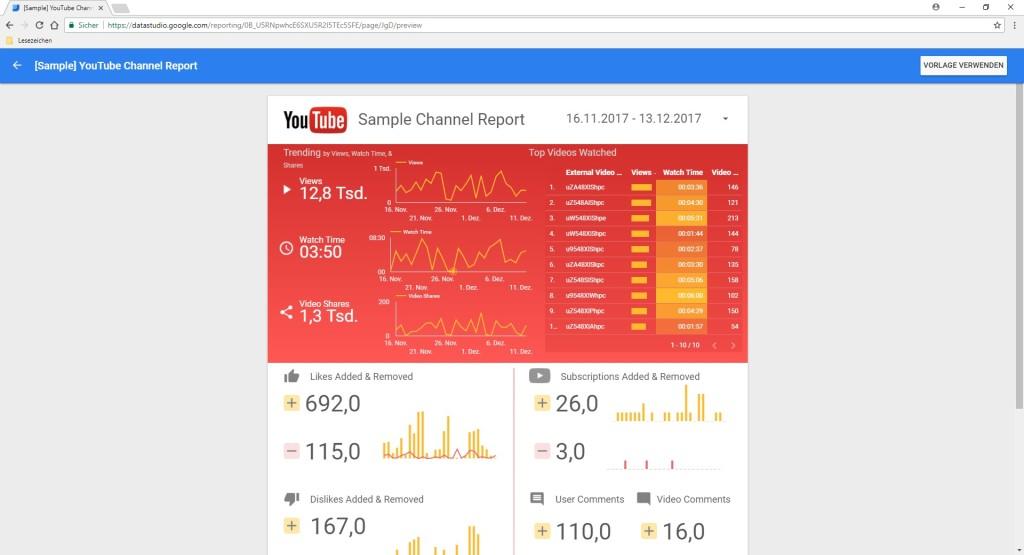 Screenshot 1 - Google Data Studio