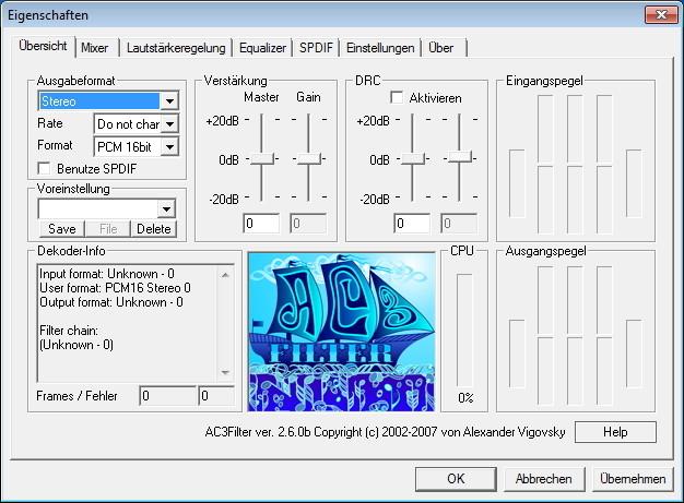 Screenshot 1 - AC3Filter
