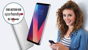 LG V30 besonders günstig mit Tarif kaufen©LG, Sparhandy, iStock, COMPUTER BILD