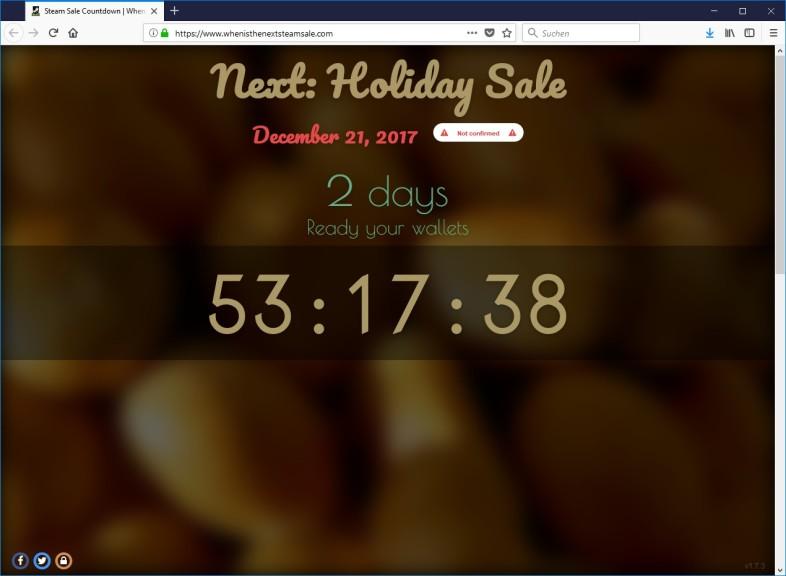 Screenshot 1 - Steam Sale Countdown