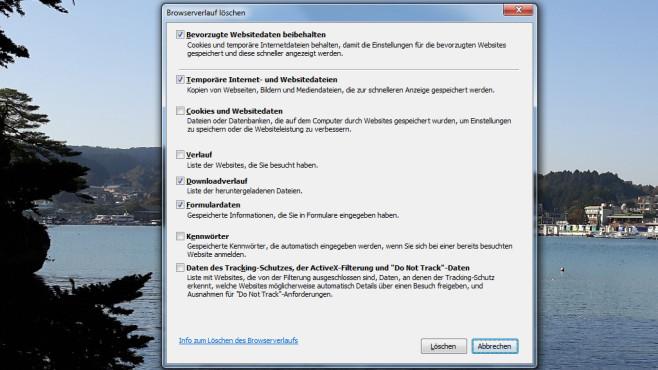 Browser aufräumen und neu starten ©COMPUTER BILD