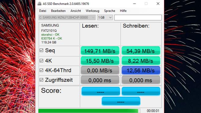 SSD-Tempo im Blick behalten ©COMPUTER BILD