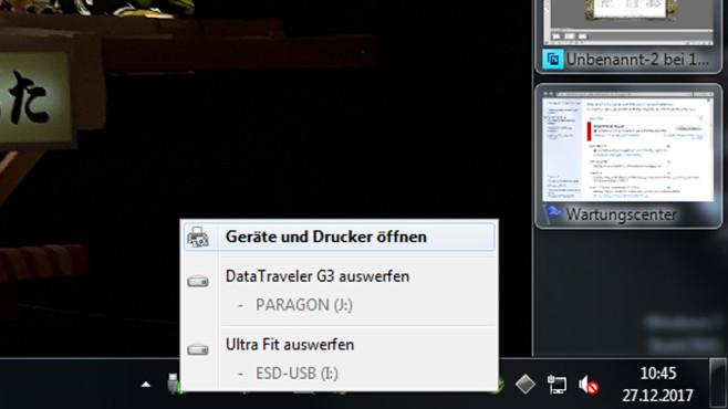 USB-Sticks sicher entfernen ©COMPUTER BILD