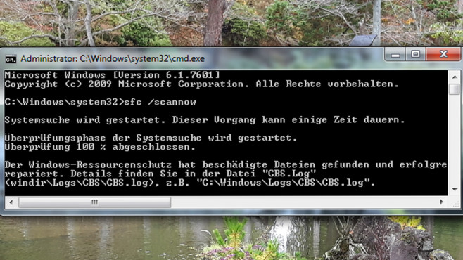 Windows-Systemdateien reparieren © COMPUTER BILD