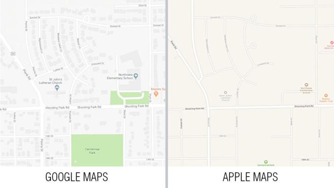 Google Maps und Apple Maps©Google, Apple