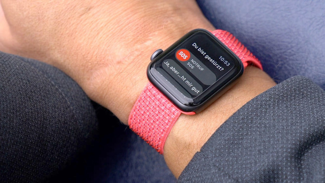 Sturzerkennung Apple Watch © COMPUTER BILD