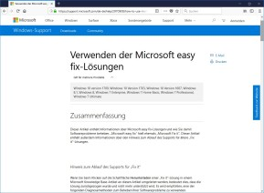 Microsoft easy fix
