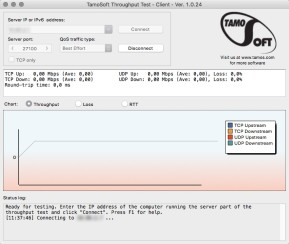 TamoSoft Throughput Test (Mac)
