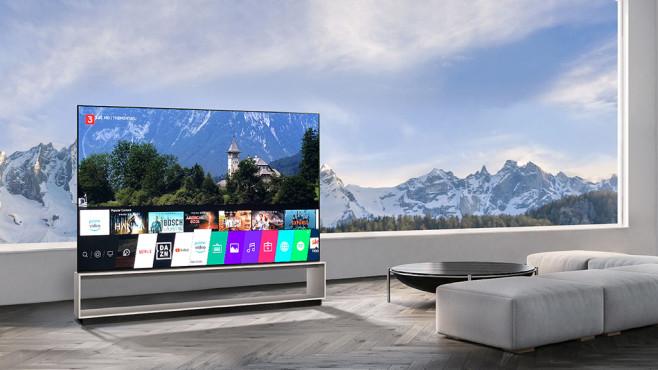 Verkaufsstart LG OLED Z9: Vorbesteller sparen beim 8K-Riesen 8.000 Euro! Ausstattung und Benutzerführung vom LG OLED Z9 sind exakt identisch mit denen der kleineren OLED-Fernseher von LG – gut so.©LG Electronics, COMPUTER BILD