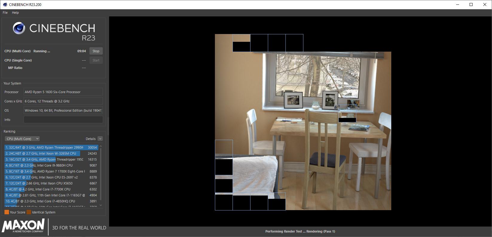 Screenshot 1 - Cinebench