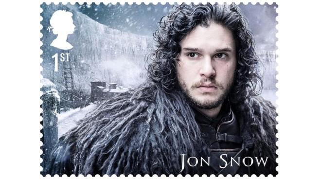 Jon Snow auf Briefmarke©Royal Mail